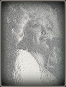 Texas Country Music Digital Art Prints - Dolly Parton Print by Kay Novy