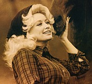 Music Legend Framed Prints - Dolly Parton Framed Print by Sanely Great