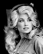 Pop Singer Framed Prints - Dolly Parton Portrait Framed Print by Sanely Great