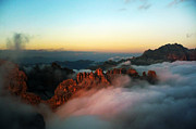 Cloud Inversion Prints - Dolomites cloud inversion  Print by James Rushforth