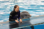 Dolphin Show - National Aquarium In Baltimore Md - 1212230 Print by DC Photographer