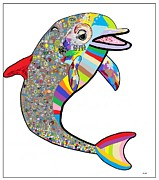 Dolphin - The Devil's In The Details Print by Eloise Schneider