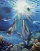 Thomas J Herring - Dolphins Playing