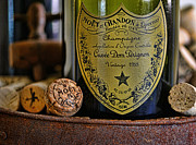 Wine Cork Framed Prints - Dom Perignon  Framed Print by Paul Ward