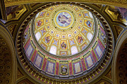 Dome Interior Of The St Stephen Basilica In Budapest Print by Artur Bogacki