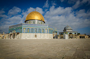 Jerusalem Metal Prints - Dome of the Rock Closeup Metal Print by David Morefield