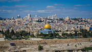 Jerusalem Prints - Dome of the Rock in Jerusalem Print by David Morefield