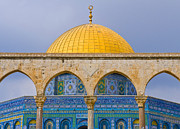 Kobby Dagan Posters - Dome of the rock Poster by Kobby Dagan