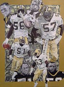 Pro Football Painting Framed Prints - Dome Patrol Framed Print by Jason Turner