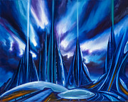 Nebulae Painting Originals - Domed City by James Christopher Hill