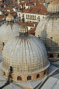 Domes Prints - Domes of the San Marco basilica Print by Sami Sarkis