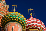 Medieval Temple Photo Prints - Domes Of Vasily The Blessed Cathedral - Feature 3 Print by Alexander Senin