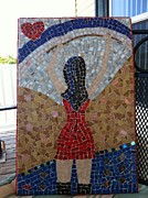Art Glass Mosaic Glass Art Posters - Domina Poster by Art by Dance