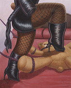 Vinyl Paintings - Dominatrix Teddy by Preston Craig