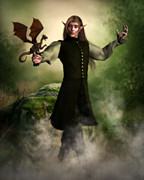 Male Elf Posters - Dominick Poster by Suzanne Amberson
