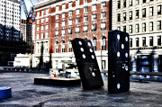 Phila Framed Prints - Domino Sculpture Framed Print by Bill Cannon