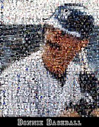 Mattingly Framed Prints - Don Mattingly Yankees Mosaic Framed Print by Paul Van Scott