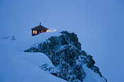 Snowy Night Photo Posters - Don Sheldon Mountain House Poster by Patrick Endres