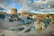 Martina Fagan Prints - Donabate Martello Tower Print by Martina Fagan