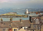 Piers Painting Framed Prints - Donaghadee Ireland Irish Sea Framed Print by Brenda Brown