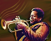 Sounds Digital Art - Donald Byrd by James  Mingo