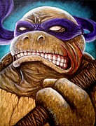 Comic Books Paintings - Donatello Unleashed by Al  Molina
