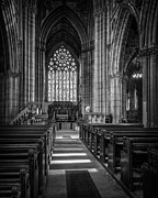 Stained Glass Windows Prints - Doncaster Minster East Nave Print by Ian Barber