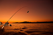 Reeling Photo Posters - Done Fishing at Sunset Poster by James Wheeler