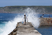 Sennen Cove Prints - Done Fishing Print by Terri  Waters
