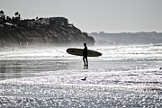 Surf Silhouette Prints - Done Surfing Print by Purcell Pictures