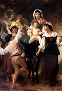 Old Masters Posters - Donkey Ride Poster by William Bouguereau