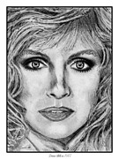 Mills Drawings - Donna Mills in 1987 by J McCombie