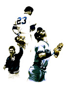 Baseball Drawings Posters - Donnie Baseball  Don Mattingly Poster by Iconic Images Art Gallery David Pucciarelli