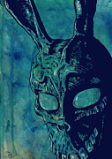 Cult Drawings Framed Prints - Donnie Darko Framed Print by Giuseppe Cristiano