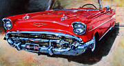 57 Chevy Painting Framed Prints - Dons 57 Chevy Framed Print by Dan Nelson