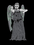 Tardis Digital Art Prints - Dont Blink Print by Jera Sky
