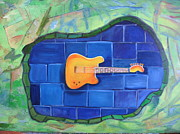 Guitar Painting Originals - Dont Forget The Music by David Delaney
