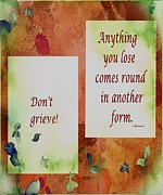 Lose Framed Prints - Dont Grieve Framed Print by Barbara Griffin