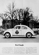 Police Car Framed Prints - Dont Laugh Framed Print by Benjamin Yeager