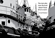 Quotation Prints - Dont Rock the Boat Print by Mike Flynn