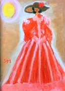 Gown Painting Originals - Dont steal my show. by Sylvia Masri
