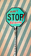 American Graffiti Digital Art Framed Prints - Dont Stop Believing Framed Print by Steve Will