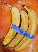 Yellow Bananas Paintings - Dont touch the Bananas by Jack Bordenca