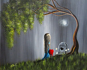 Fantasy Tree Art Painting Posters - Dont Worry I Wont Let That Happen To You by Shawna Erback Poster by Shawna Erback