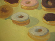 Donuts Painting Posters - Donuts Poster by Sharon Hollander
