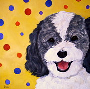 Dog Pop Art Paintings - Doodle by Debi Pople