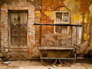 India Metal Prints - Door and Cart Metal Print by Derek Selander