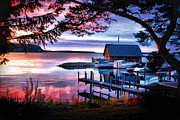 Christopher Arndt Metal Prints - Door County Anderson Dock Sunset Metal Print by Christopher Arndt