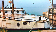 Christopher Arndt Metal Prints - Door County Gills Rock Faith II Fishing Trawler Metal Print by Christopher Arndt