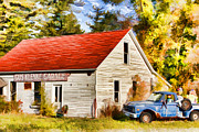 Pickup Truck Door Posters - Door County Gus Klenke Garage Poster by Christopher Arndt